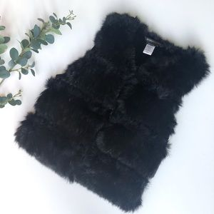 BCBGMaxAzria rabbit fur vest